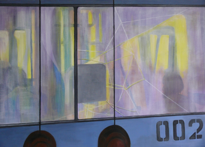 Trolley In Huis : Reflection with trolley kunst in huis kunstuitleen